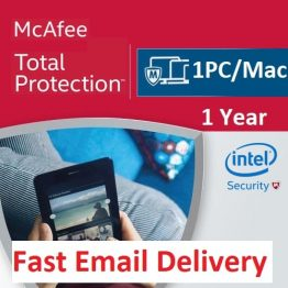 McAfee Total Protection (Windows / Mac / Android / iOS) - 1 User, 1 Year